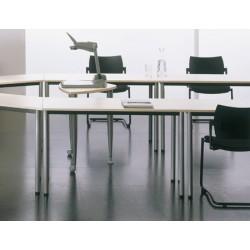 Table de réunion modulable 160x80 pieds ronds