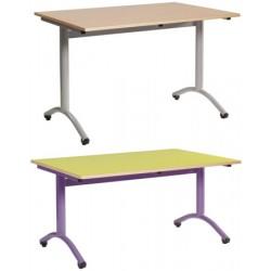 Table restauration Maïwenn à dégagement latéral 180x80 cm stratifié chant surmoulé T1 à T6