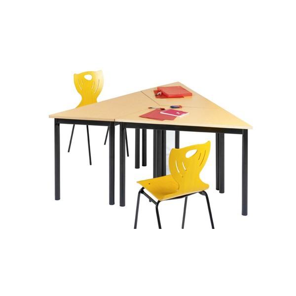 Table de restauration NF 4 pieds Flore stratifié alaise 140x70x70 cm