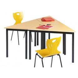 Table de restauration NF 4 pieds Flore stratifié alaise 120x60x60 cm