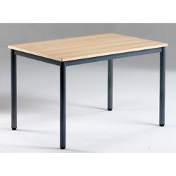 Table de restauration NF 4 pieds Flore stratifié alaise 120x70 cm