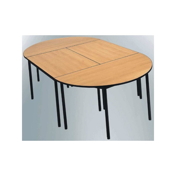 Table De Reunion Nf 4 Pieds Flore Melamine Chant Polypropylene