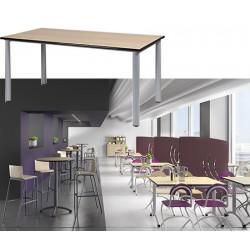 Table restauration Maïwenn 4 pieds 210x80 cm stratifié chant alaisé T1 à T6