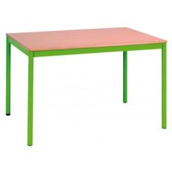 Table Doha 180x80 cm plateau mélaminé chant PVC  T1 a T6