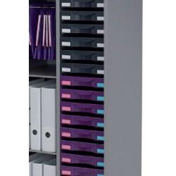 Lot de 10 tiroirs H5 cm avec étiquettes pour armoires Classe Eco