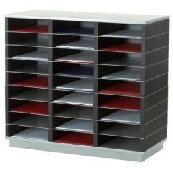 Trieur 18 cases A4 L75 x P32,8 x H50,5 cm