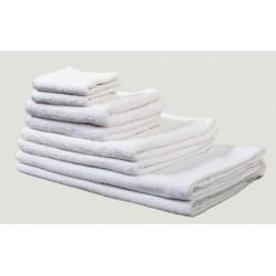 Lot de 240 serviettes invité 30x50 cm coton blanc 420 g