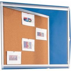 Vitrine intérieure Licorne plexi fond liège 10 A4 (70x113 cm)