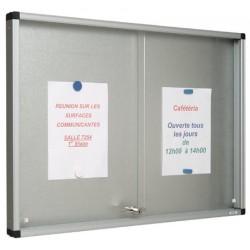 Vitrine Gentilly verre securit portes coulissantes fond tole 100x94 cm