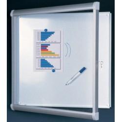 Vitrine extérieure Licorne verre sécurit fond métal 12 A4 (98x92 cm)