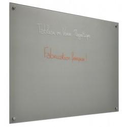 Panneau d'affichage magnétique en verre peint blanc 60x90 cm