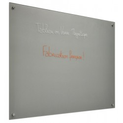 Panneau d'affichage magnétique en verre peint blanc 45x60 cm