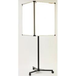 Panneau d'affichage 3d 4 faces émaillé blanc 90x60 cm