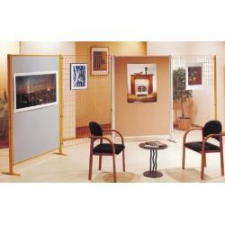 Panneau d'exposition sur pieds 2 faces liège 172x122 cm