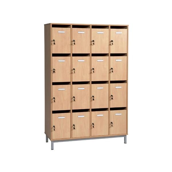 Meuble professeurs 16 cases sur socle L120xH183xP45 cm