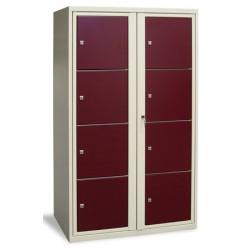 Armoire scolaire casier visitable 2 colonnes 8 cases L90xP50xH180 cm