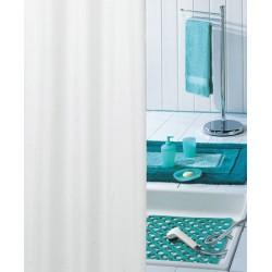 Rideau de douche pvc uni blanc H200xL120 cm