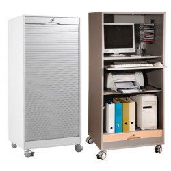 Armoire informatique mobile H159xL71xP60 cm