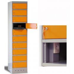 Armoire sécurisée 10 cases pour ordinateurs portables L40xP50xH180 cm
