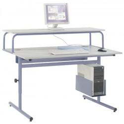 Table informatique Alpha 150x90 : réhausse 150x40 cm