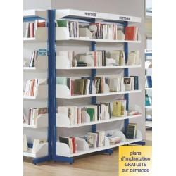 Rayonnage bibliothèque Vénus : serre livre tôle en l à poser