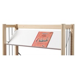 Rayonnage bibliothèque Mars : tablette droite ou inclinée p 30 cm