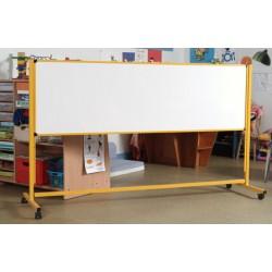 Piste graphique scolaire 2 faces émaillées blanches 60x200 cm