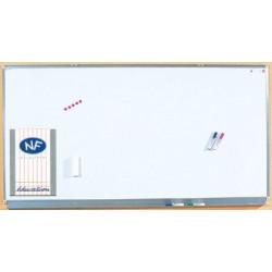 Tableau mural émaillé NF éducation E3 ( blanc feutre ) 120x400 cm