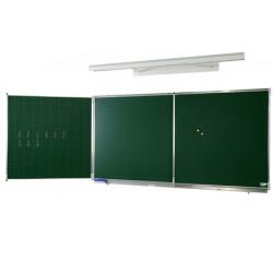 Tryptique émaillé NF éducation E3 (vert craie) 120x480 cm