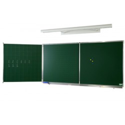 Tryptique émaillé NF éducation E3 (vert craie) 120x400 cm