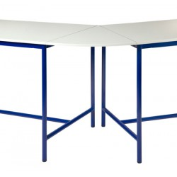 Plateau de jonction 45° pour table de techno stratifié chant ABS