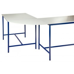 Table de techno angle 90° stratifié chant ABS