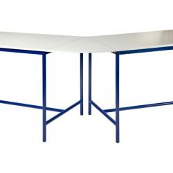 Plateau de jonction 45° pour table de techno mélaminé chant ABS