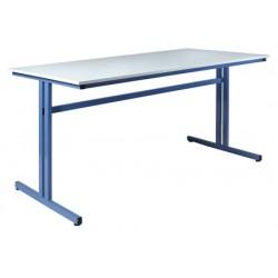 Table de travail 160x80xH100 cm plateau mélaminé chant ABS