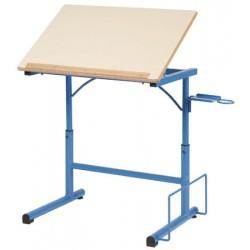 Table à dessin d art 70x50 cm mélaminé chant alaisé T6