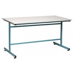 Table à dessin 160x80xH85 cm mélaminé chant ABS