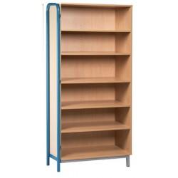 Bibliothèque ouverte L90xH183 xP45 cm avec Piètement latéral