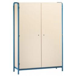 Armoire 2 portes battantes sur socle métallique L90x H183xP45 cm