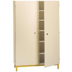 Armoire 2 portes battantes sur socle métallique L120xH183xP45 cm