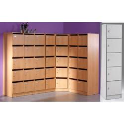 Armoire modulaire 1 colonne 5 portes pleines avec serrure L40xP42xH180 cm