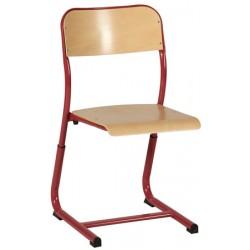Chaise scolaire NF Noémi appui sur table réglable en hauteur double galbe T4 à T6
