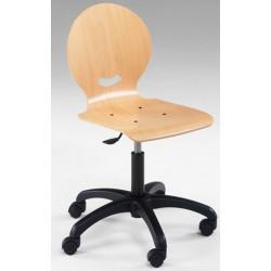 Chaise informatique réglable en hauteur sur roulettes