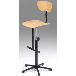Chaise informatique Elisa réglable en hauteur 52 a 70 cm avec repose pieds