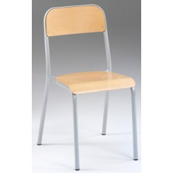 Chaise 4 pieds empilable NF Laura T3