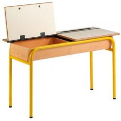 Table pupitre avec casier ouvrant 130x50 cm stratifié