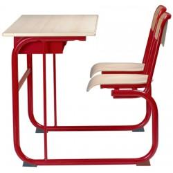 Table pupitre à dégagement latéral avec casier 70x50 cm stratifiée chant alaise