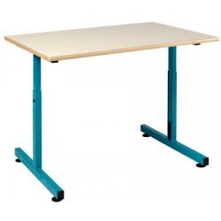 Table PMR 90x65 cm plateau fixe mélaminé chants ABS