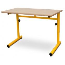 Table scolaire réglable Clémentine stratifié alaise bois 130x50 cm T4 à T6