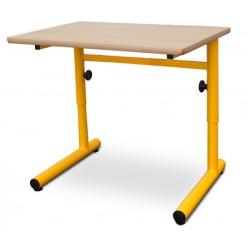 Table scolaire réglable Clémentine stratifié alaise bois 70x50 cm T4 à T6