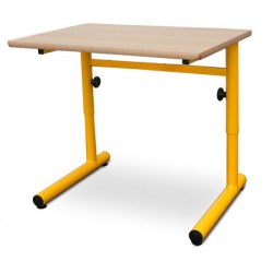 Table scolaire réglable Clémentine mélaminé PVC 70x50 cm T4 à T6